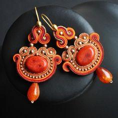kolczyki - soutache-Bollywood 6  - this medium/form creates such beautiful shapes...