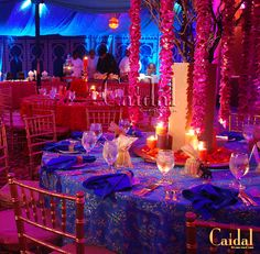 Moroccan Theme center pieces at The Doral Resort by Caidal Events
