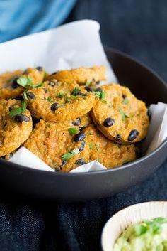 Quinoa Bites with Sweet Potato and Black Beans
