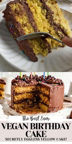 Vegan Gluten Free Desserts, Vegan Dessert Recipes, Healthy Desserts, Healthy Treats, Keto Recipes, Cake Recipes, Paleo, Vegan Birthday Cake, Birthday Desserts