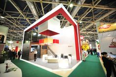 Exhibition stand by Andrey Vishniakov, via Behance