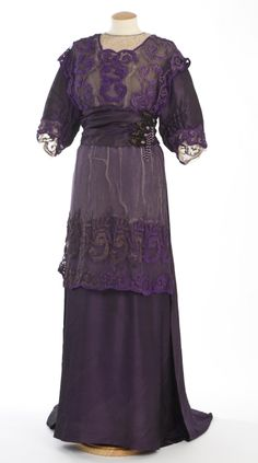 Dress, M. Turull (Barcelona): ca. 1910-1912, silk, tulle, floral embroidery, organza, lace, beading. Search for 11946.