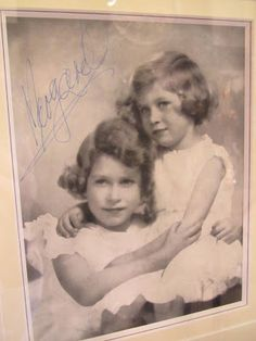 Princesses Elizabeth and Margaret. Although they were very different the two sisters were remarkably close. How lonely the Queen must be without her.