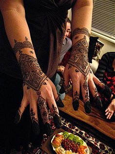 henna for moroccan wedding