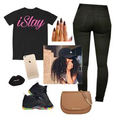 """""""Hi """" by prettyvibesonly ❤ liked on Polyvore featuring Islay, MICHAEL Michael Kors, NIKE, Lime Crime and KEEP ME"""