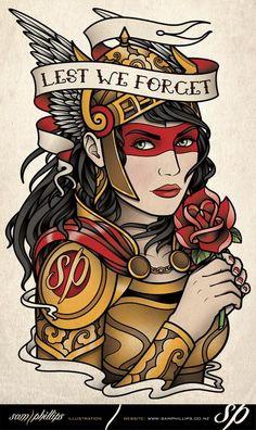 Memory Tattoo by Sam Phillips Valkerie Tattoo, Body Art Tattoos, Sleeve Tattoos, Ed Hardy Designs, Traditional Tattoo Art, Neo Traditional, Foto Gif, Nordic Tattoo, Tatuagem Old School