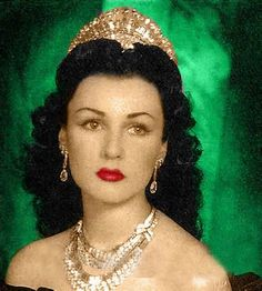 Born 11/5/1921 and died 7/2/2013.  Her Royal Highness Princess Fawzia Fuad, daughter of His Majesty King Fuad I  and the former Empress of Iran (once married to the Shah of Iran).  This matching suite of diamonds comprising tiara, earrings and necklace was made for her by Van Cleef and Arpels.