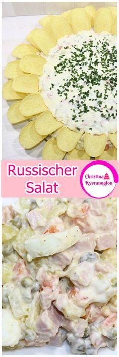 Russischer Salat / Pringles-Chips Salat / Salat in einer tollen Form für Buffet oder Partys Big Mac Salat, Partys, Buffet, Potato Salad, Cereal, Form, Chips, Breakfast, Ethnic Recipes