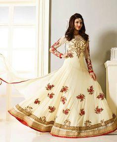 Attractive Designer White Anarkali Suits