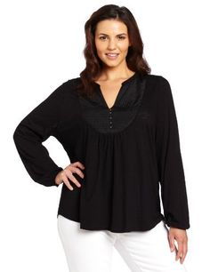 Lucky Brand Women's Plus-Size Lexie Top Lucky Brand. $59.50. 3-button placket at neckline. Machine Wash. V-neck. Made in Korea, Republic of. 50% Cotton/50% Modal✖️More Pins Like This One At FOSTERGINGER @ Pinterest✖️
