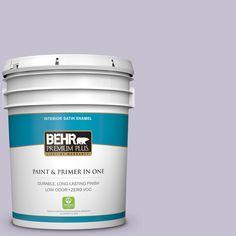 BEHR Premium Plus 5-gal. #icc-44 Lavender Bouquet Zero VOC Satin Enamel Interior Paint