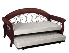 Fashion Bed Group Fraser Daybed in Distressed Black with Free Mattress