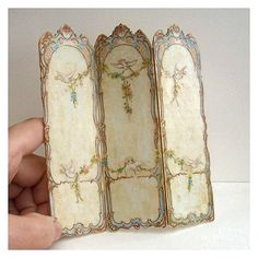 Dolls' House Miniature  Screen handpainted by OpenHouseMiniatures...for when the shy ghosts need to change their clothes
