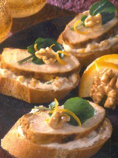 Hähnchenbrust - Kanapees mit Walnüssen