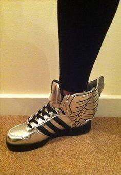 a22fa17c66 Adidas Jeremy Scott Wings Trainers Silver Calçados Adidas