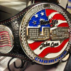 debuted his new WWE he rocked this custom United States Championship title belt! Wwe United States Championship, Wwe Championship Belts, Wwe Belts, Wwe Tna, Combat Sport, Wwe Photos, John Cena, Professional Wrestling, Wwe Wrestlers