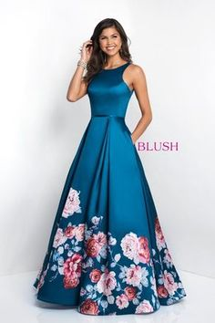 Blush Prom Dresses and Evening Gowns Blush Style 11136 Blush Prom Dress, Floral Prom Dresses, Blush Dresses, Grad Dresses, Elegant Dresses, Pretty Dresses, Homecoming Dresses, Strapless Dress Formal, Beautiful Dresses