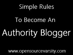 Since my early Blogging days I've always wanted my Blogsite recognized as an authority site. Initially I felt that becoming an authority Blogger was a complex, mistake strewn path. But...