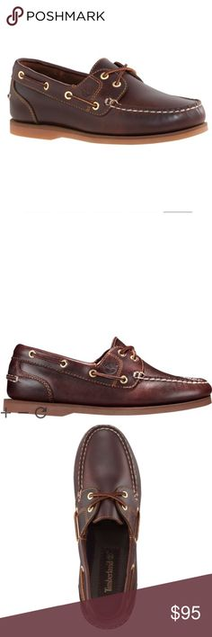 TImberland CLASSIC AMHERST 2-EYE BOAT SHOES 8.5M TImberland WOMEN'S CLASSIC AMHERST 2-EYE BOAT SHOES Root Beer Smooth 8.5M. Premium full-grain leather uppers Traditional handsewn construction 360-degree functional rawhide lacing system for a customized fit Leather linings and footbeds EVA midsole for all-day comfort, lightweight cushioning and shock absorption Non-marking, siped rubber outsole channels away water for traction Weight of a single shoe (size 7): 13.5 ounces Imported Timberland…
