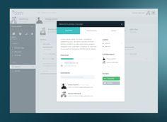 Full view Dashboards, January 2016, Ui Design, Concept, Flat, Design Web, Bass, Ballet Flats, User Interface Design