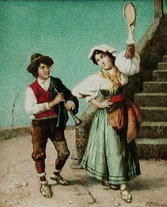 Vincenzo Basevolana - Tamburine girl - 1905