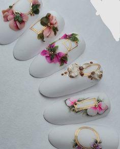 Rose Nail Art, Rose Nails, Flower Nail Art, 3d Nail Art, 3d Nails, Fabulous Nails, Perfect Nails, Gorgeous Nails, Engagement Nails