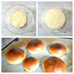 Bulky na hanburger Russian Recipes, Bread Baking, Brie, Quiche, Hamburger, Cooking, Burgers, Breads, Polish