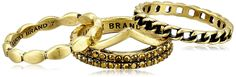 Lucky Brand Gold Stack Ring, Size 7 ** More details @ http://www.amazon.com/gp/product/B000B6P0US/?tag=finejewelry4u.com-20&pno=110716083906