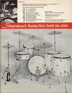 From 1977-1978 Slingerland Drum Catalog: Classic Buddy Rich Outfit