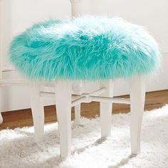 himalayan pool glam vanity stool