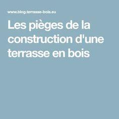 Les pièges de la construction d'une terrasse en bois