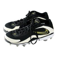 533a2b910a4 New Men s Nike 7v7 TD Low Football Cleats Mesh  90 Black White Breathable  size 9  Nike