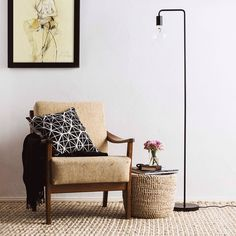 Our beloved Danish Vida is now not only available as a table lamp, but also as a floor lamp. #danish #home #interior #inspiration #style #design #lighting #livingroom #decor #urbanara