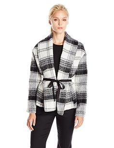 BB Dakota Women's Kinley Fuzzy Wool Jacket, Black, Small ** Want to know more, click on the image.