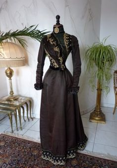 Visiting Dress, ca. 1897