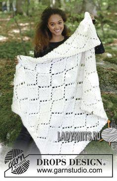 Вязание спицами объемного пледа «Снежные бриллианты»