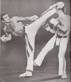 Early Full Contact Karate. Dominique Valera from France.