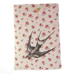 Macbook Air 13 Inch Case, Macbook Pro 13 Sleeve, Floral Macbook Case, Swallow