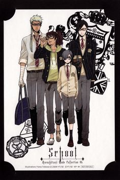 Agni, Prince Soma, Sebastian and Ciel at school
