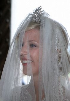 The bride Felipa Princess of Bavaria walks out of the Rokoko-Wies church after her marriage ceremony