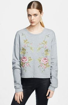 McQ by Alexander McQueen Embroidered Sweatshirt on shopstyle.com