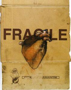 Fragile, Heart Drawing on Cardboard, pop art, Graffiti Art. Sacred Art Tattoo, Street Art, Heart Illustration, Medical Art, Anatomical Heart, Human Heart, Heart Art, French Artists, Sacred Heart