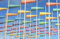 Colorful Wind Socks Forest by the Sea