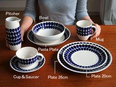 せっかく作ったパスタは、アツアツのうちにきれいな器に盛りたいものですネ。眺めているだけでも楽しい、少しずつ揃えたくなる、パスタと相性がよいお皿をご紹介します。 Blue Plates, Dining Area, Cup And Saucer, Inventions, Pottery, Ceramics, Dishes, Mugs, Tableware