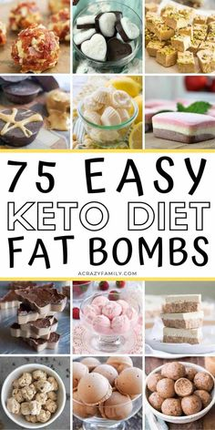 These 75 EASY KETO FAT BOMBS are the BEST! Now I have so many keto fat bomb recipes for my ketogenic diet! These low carb fat bombs are delicious and also helping me LOSE WEIGHT! Coconut Recipes, Healthy Recipes, Ketogenic Recipes, Keto Recipes, Ketogenic Diet, Dessert Recipes, Breakfast Recipes, Snacks Recipes, Candy Recipes
