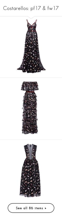 """""""Costarellos: pf17 & fw17"""" by livnd ❤ liked on Polyvore featuring Costarellos, livndfashion, prefall2017, livndcostarellos, dresses, gowns, costarellos, floral, floral evening gown and lace a line dress"""