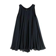 Rag & Bone / Split Back Swing Dress | La Garçonne (7.910 ARS) ❤ liked on Polyvore featuring dresses, tops, vestidos, black, trapeze dress, rag bone dress, tent dress and swing dress