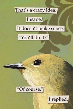Mincing Mockingbird magnet
