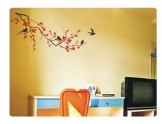 Tree with birds wall decal.