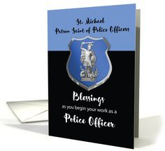 St. Michael Blessings to New Police Officer card (1449638)